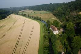 Photographie aérienne de l'Iton