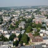 Photographie aérienne de l'Iton à Evreux